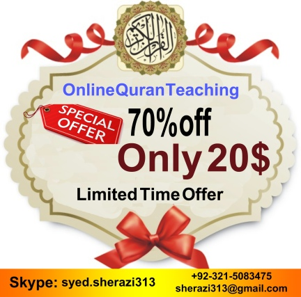 Limite Time Offer Discount fo Online Quran Teaching
